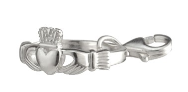 Celtic Bead Claddagh Ring Silber