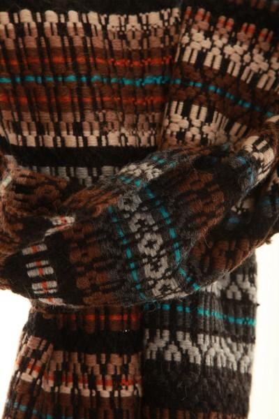 Touch of Nature handgewebter Schal aus Alpaka, Mohair und Wolle