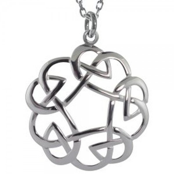Kette offener keltischer Knoten Silber 925