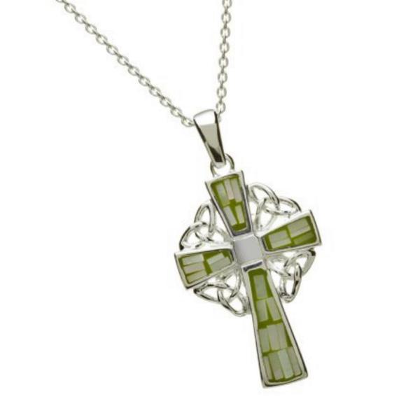 Keltisches Kreuz mit Mosaik aus Silber 925