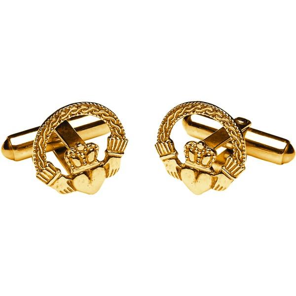 Irische Claddagh Manschettenknöpfe Gold