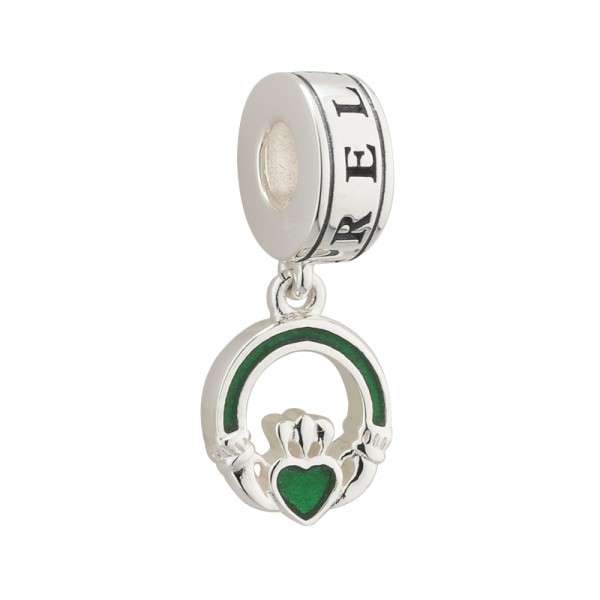 Celtic Bead Claddagh Silber