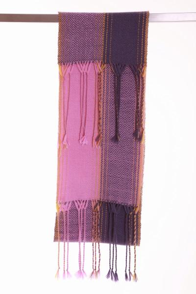 Handgewebter Schal Amethyst aus Alpaka Wolle