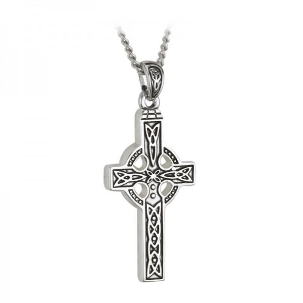 Keltisches Kreuz Edelstahl Trinity Knot