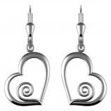 Irische Ohrringe Spirale und Herz