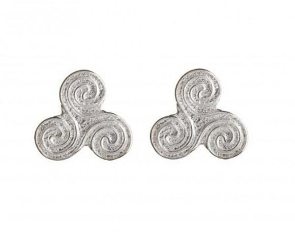 Irische Ohrringe Newgrange Spirale Silber