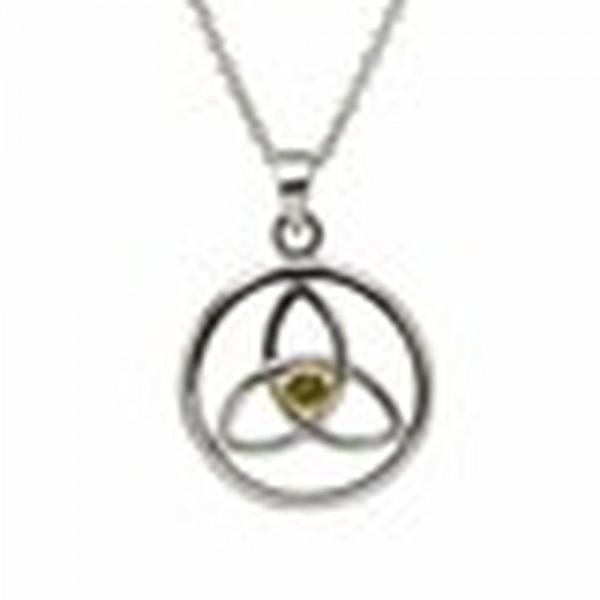 Keltischer Anhänger Trinity Knot im Kreis