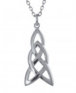 Irische Kette Silber 925 Trinity Knot