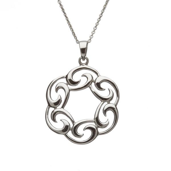 Irische Kette mit Anhänger Silber