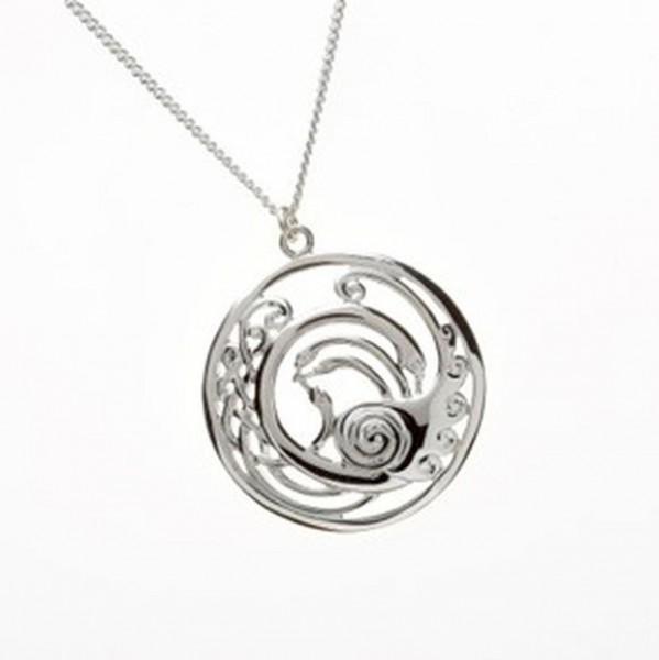 Keltische Kette mit Anhänger Silber aus der Children of LIR Kollektion.