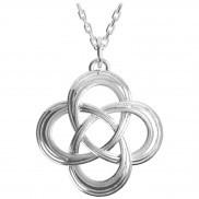Irische Kette Trinity Knot aus Silber 925