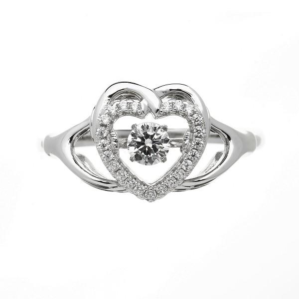 Keltischer Ring Silber Herz Trinity Knot