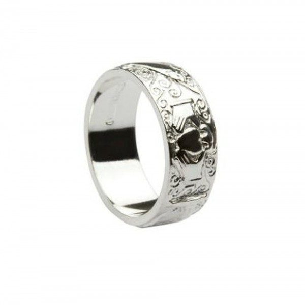 Irischer Schmuck Claddagh Ring Silber