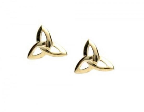 Keltische Ohrringe Trinity Knot 10 ct. Gold 416
