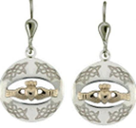 Irische Ohrringe SIlber 925 vergoldet Gold 585