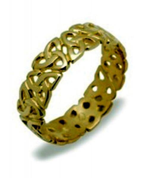 Keltischer Herrenring Gold