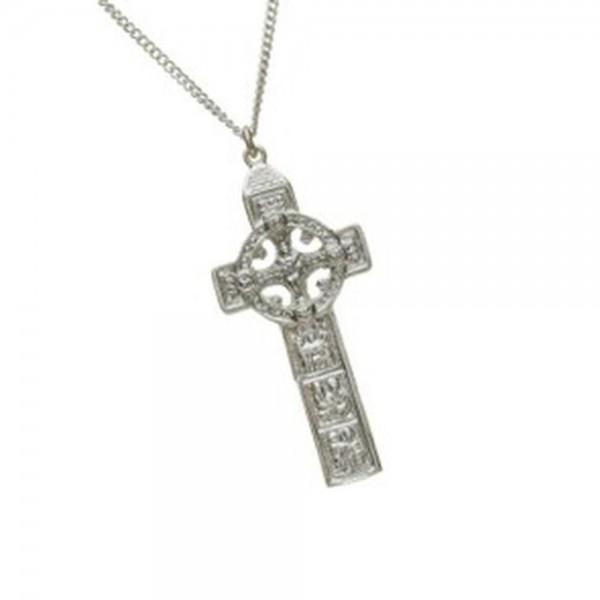 Keltisches Duleek Kreuz massiv Silber 925