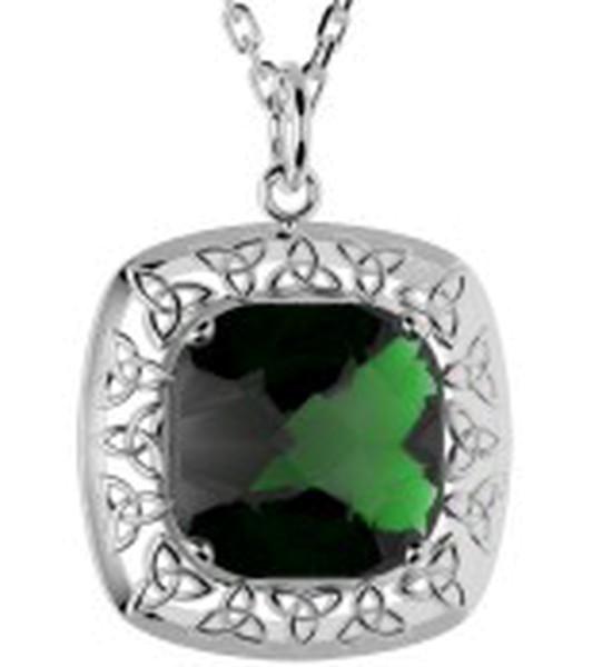 Irischer Schmuck Keltischer Anhänger Doublet mit Quarzkristallen