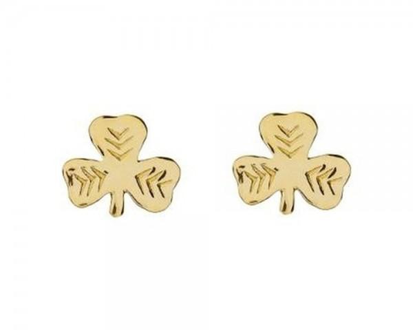 Keltische Ohrringe Kleeblatt Gold