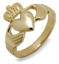 Irischer Herren Claddaghring Ehering, Trauring 14 Karat Gold 585
