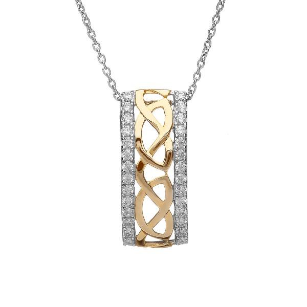 Anhänger keltischer Knoten aus Silber 925 vergoldet
