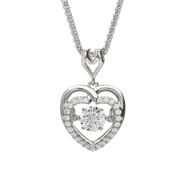 Keltischer Herz Anhänger Silber 925