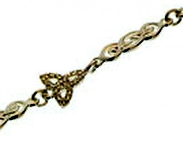Irisches Armband Trinity Knot aus Silber