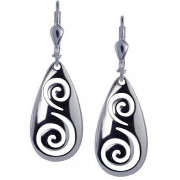 Irische Ohrringe Newgrange Spirale aus Silber