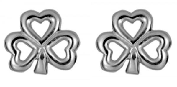 Keltische Ohrringe Kleeblatt Gold 416