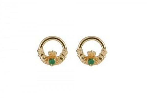 Keltische Ohrringe Claddagh  10 ct. Gold 416