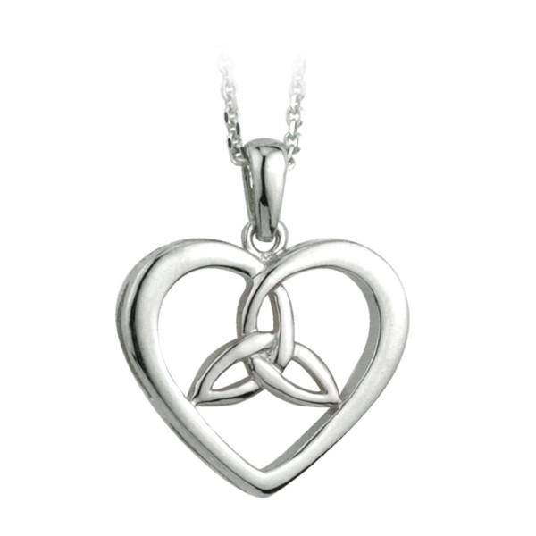 Keltischer Anhänger Silber 925 Herz und Trinity Knot