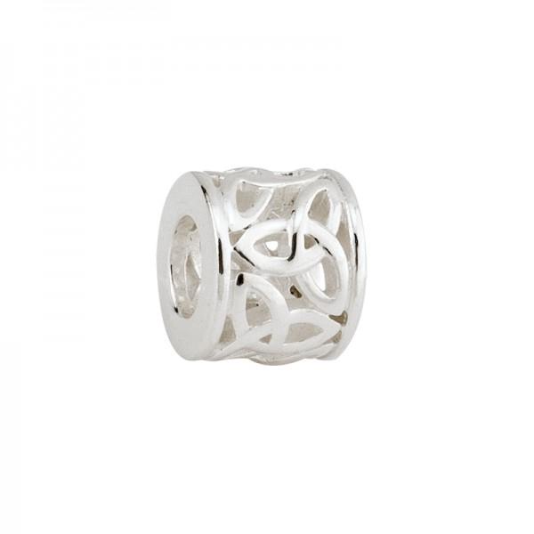 Celtic Bead Trinity knot Silber