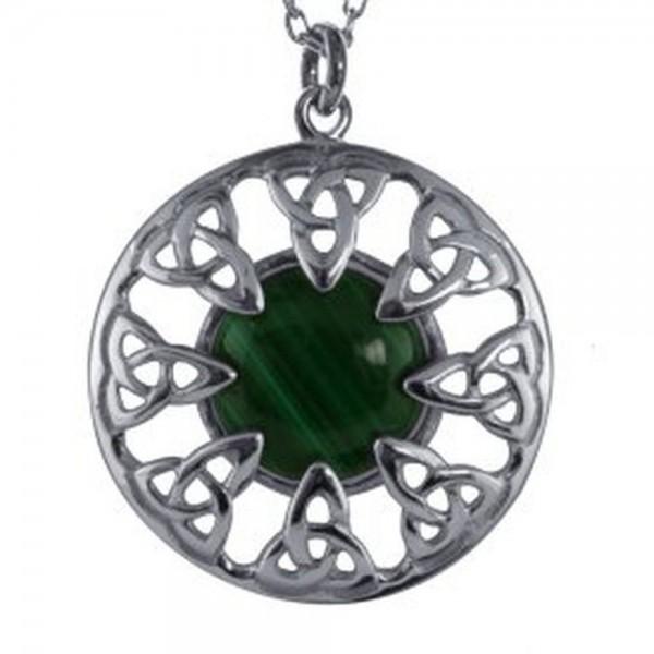 Irische Kette Silber mit Malachit