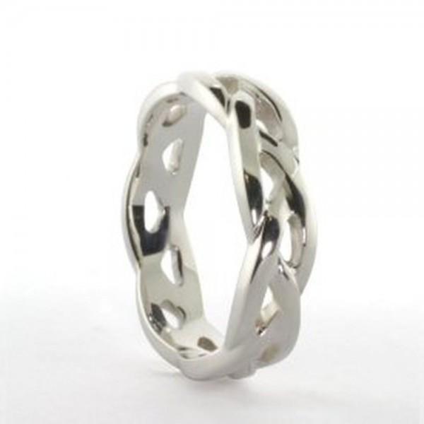 Damenring keltisches Webemuster Silber 925