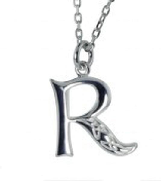Irische Kette mit Initialien Anhänger Buchstabe R