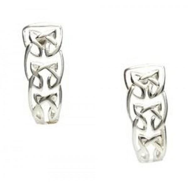 Keltische Ohrstecker Trinity Knot Silber