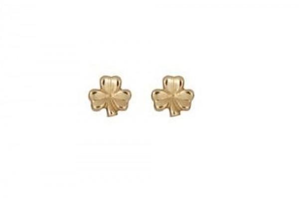 Keltische Ohrringe klassisches Kleeblatt in 10 ct.  Gold 416