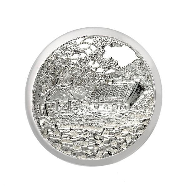 """Keltische Brosche """"Ruhiger Mann"""" aus Silber 925"""