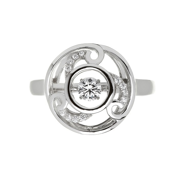 Claddagh Ring Silber mit Zirkon