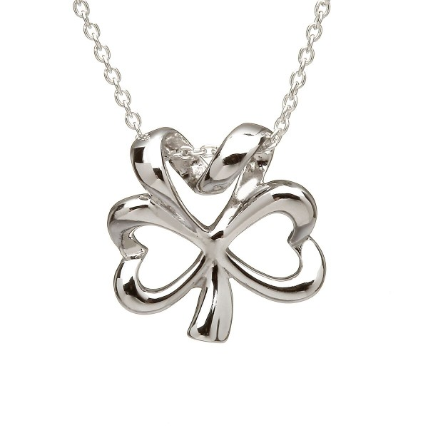 Keltischer Kleeblatt Anhänger aus Silber 925