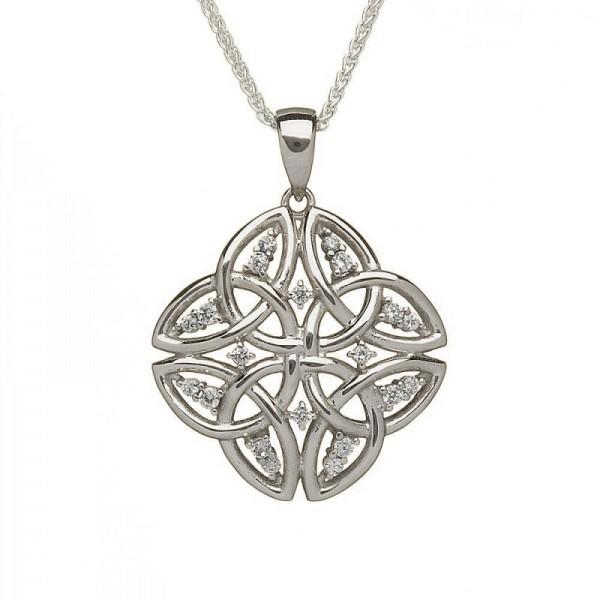 Tetrad Trinity Knot Anhänger mit Zirkonia