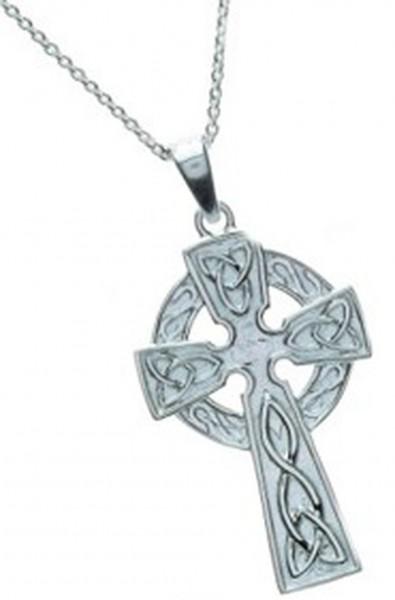 Klassisches keltisches Kreuz Silber