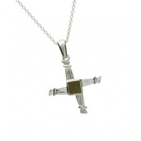 Kette Silber mit St. Brigid Kreuz (klein)