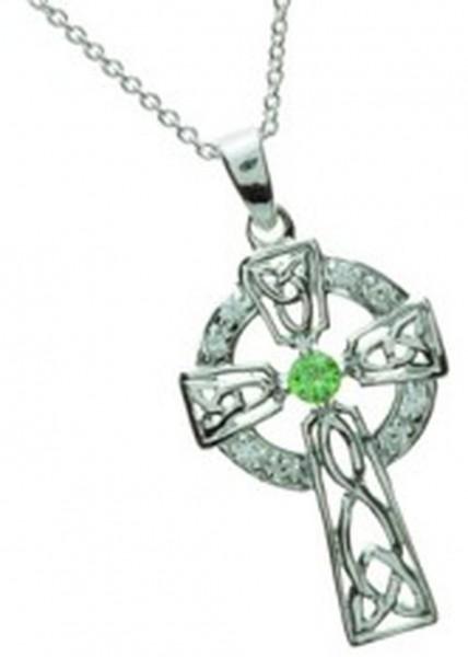Keltisches Kreuz Silber mit Zirkon