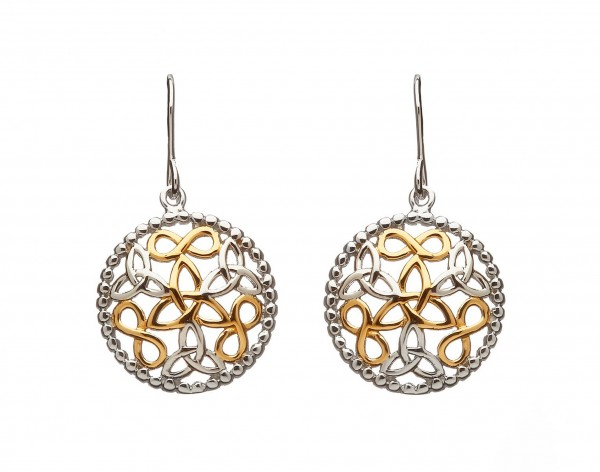 Keltische Ohrringe Trinity knot Silber
