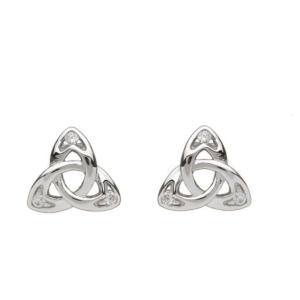 Keltische Ohrstecker Trinity Knot Silber 925