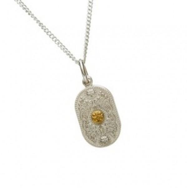 Irische Kette Arda Kollektiion Silber 925 und Gold 585 klein