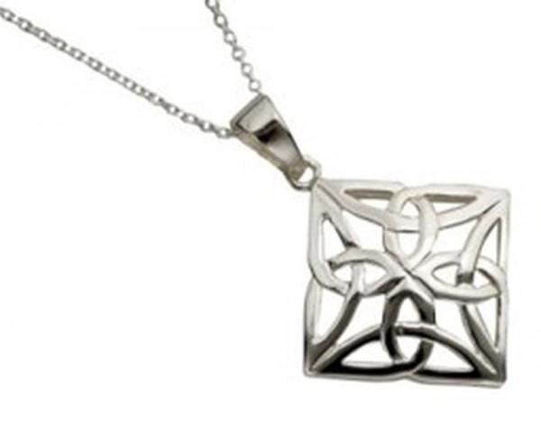 Keltischer Anhänger Silber 925 Trinity Knot
