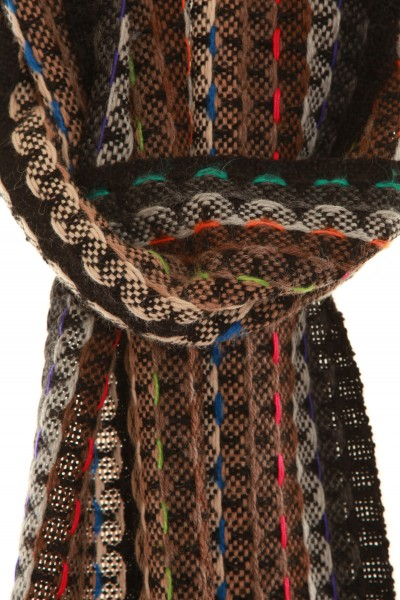 SOIL handgewebter Schal aus Alpaka Wolle