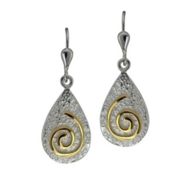 Keltische Ohrringe Newgrange mit Gold